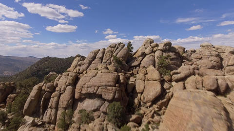 Aerial Shot Rock Formation Stock Video Footage