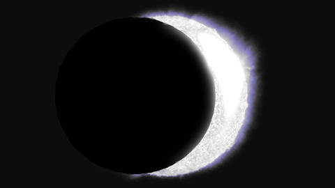 Solar eclipse sun moon planet earth space cosmic system 4k Footage