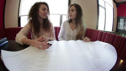 University student of Interior Design doing homework, completing housing project Footage