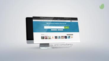 Website Presentation stock footage