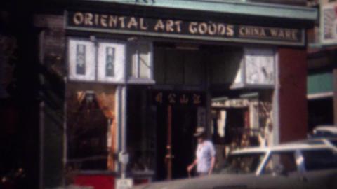 1963: Kong Sun's oriental art goods gift shop storefront Footage