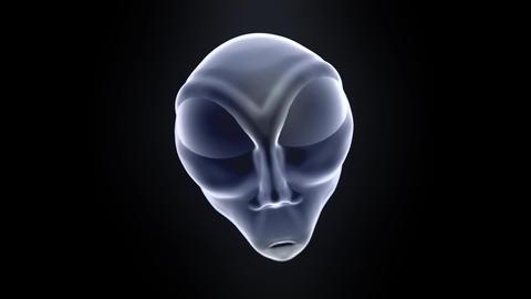 Alien grey head face creepy extraterrestrial gray martian creature ufo 4k Footage