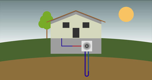 function of a geo-thermal heat pump Stock Video Footage