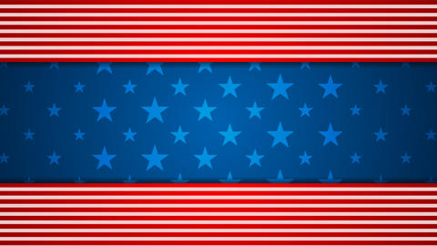 USA flag colors video animation Animation