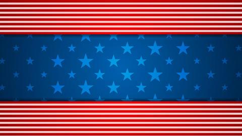 USA flag colors video animation Animation