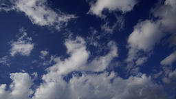 Daytime light clouds passing, time lapse Footage