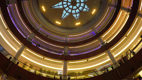 Tall. Circular Atrium of Dubai Mall. a Popular Shopping Destination Footage
