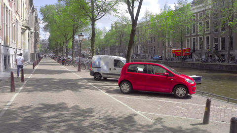Walk in the center of Amsterdam Footage