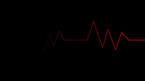 Looping red pulse waves Live Action