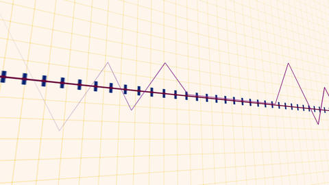 Pointed graph heart rate monitor Footage