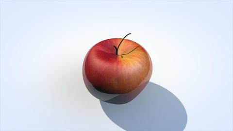 Ripe apple animation Live Action