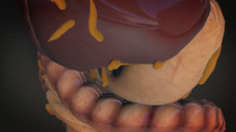 Virus attacking internal organs Live Action