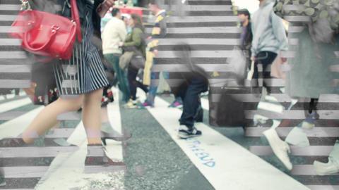渋谷、スクランブル交差点、歩く、足元、イメージ、観光、ハイスピード、スーパースロー、雑踏、混雑、インバウンド、旅行、営業、出張、若者、名所、撮影、動画素材、日本 ビデオ