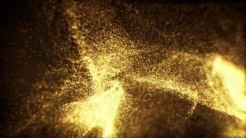 Golden Glitter Animated Looped Backgrounds 1 CG動画