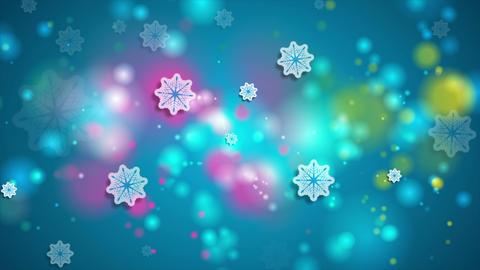 Bright blue shiny Christmas video animation Animation