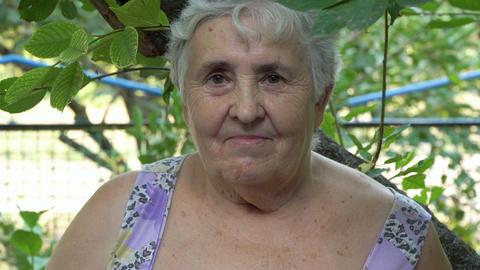 Portrait of a senior woman Footage