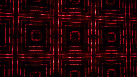 Red Glowing Led Particles Kaleidoscope VJ Loop Motion Background Animation