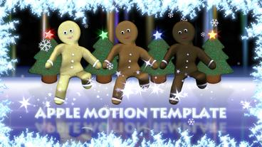 Gingerbread Show Apple Motionテンプレート