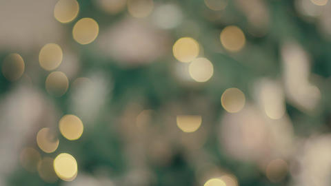 Abstract Blurred Christmas Lights Bokeh Background Footage