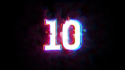 countdown10 to 1 CG動画素材
