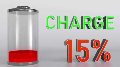 Charging battery indicator animation Footage