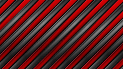 Tech black and red metallic stripes video animation Animation