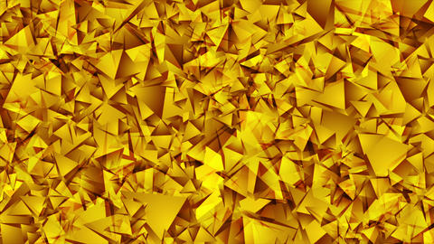 Abstract shiny golden low poly video animation Animation