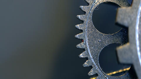 Rusty Retro Mechanic Clock Gears Footage