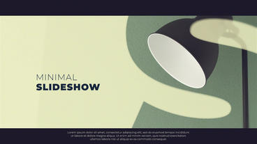 Minimal Slideshow After Effects Templates