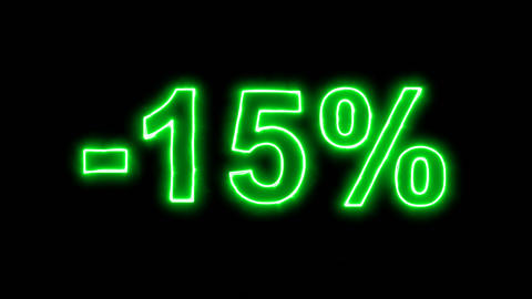 Neon flickering green -15% in the haze. Alpha channel Premultiplied - Matted Animation