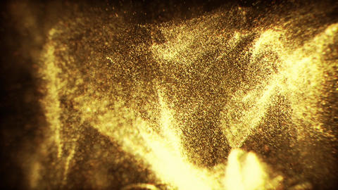 Golden Glitter Animated Looped Backgrounds 2 Animation