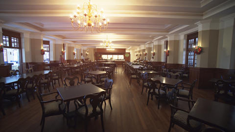 Main Dining Room in the Restaurant of the Grand Hotel in Nuwara Eliya Live Action
