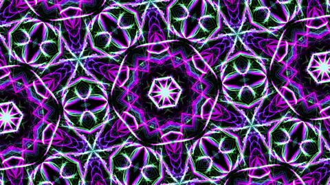 Digital Animation of a kaleidoscopic Mandala CG動画素材