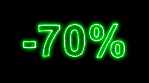Neon flickering green -70% in the haze. Alpha channel Premultiplied - Matted Animation