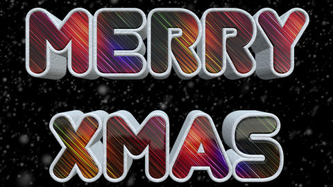 Merry XMAS 3D Shiny And Colorful Text Image