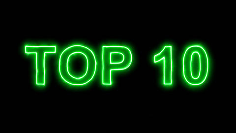Neon flickering green best TOP 10 in the haze. Alpha channel Premultiplied - Animation