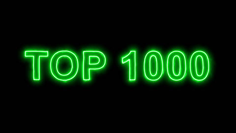 Neon flickering green best TOP 1000 in the haze. Alpha channel Premultiplied - Animation