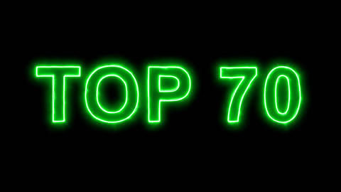 Neon flickering green best TOP 70 in the haze. Alpha channel Premultiplied - Animation