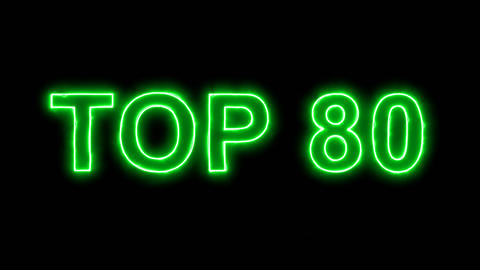 Neon flickering green best TOP 80 in the haze. Alpha channel Premultiplied - Animation