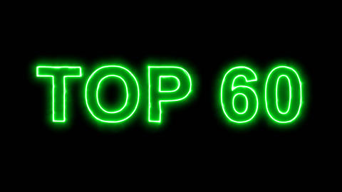 Neon flickering green best TOP 60 in the haze. Alpha channel Premultiplied - Animation