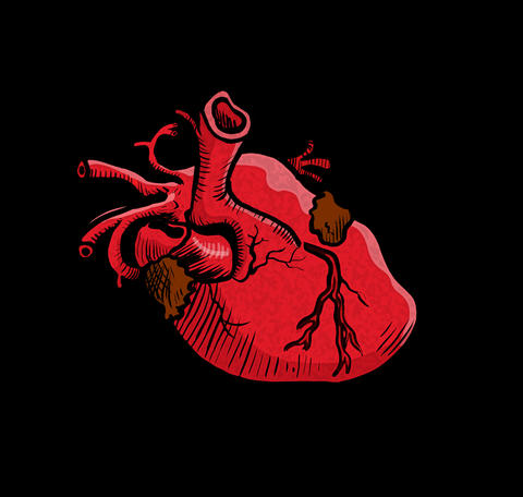 Beating heart Animation