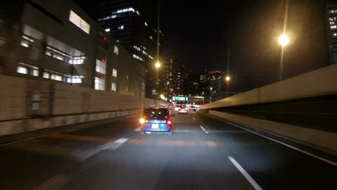 Driver's POV through the major Hamazakibashi Junction on the Tokyo Metropolitan  Footage