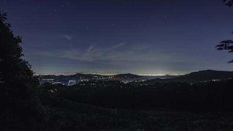 San Francisco Richardson Bay Night Timelapse Footage