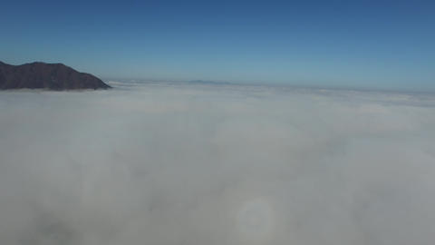 Walking above the clouds Footage