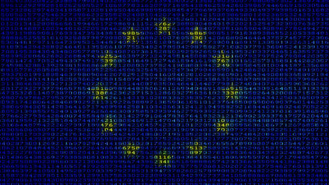 Cyber EU Flag - Digital Data Code Matrix Animation