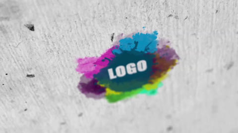 Watercolor Logo Reveal V3 After Effects Template
