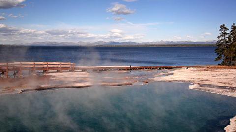 Black Pool in Yellowstone Footage