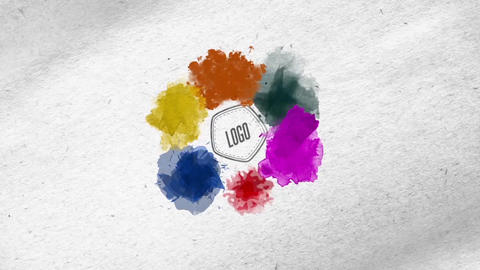 Watercolor Logo Reveal 2 After Effects Template