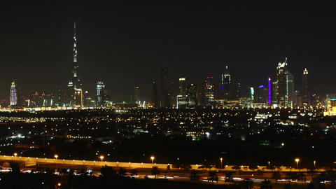 4K timelapse of beautiful towers in Dubai and surroundings Footage