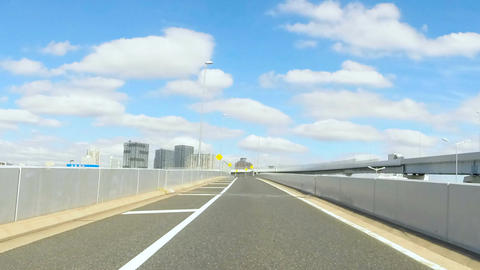 Driver's POV timelapse through the busy streets of Tokyo Metropolitan Highway Footage